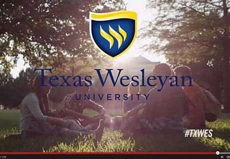 "Texas Wesleyan's Office of Marketing and Communications, led by vice president John Veilleux, announced today that the team has been awarded seven marketing and advertising awards for the 2014 ""Smaller. Smarter."" campaign."